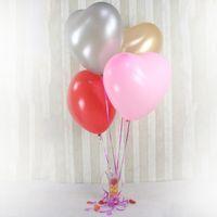ingrosso saltare decorazioni-Palloncino colorato per feste 36 pollici Cuore oversize Palloncino amore Elio Palloncini gonfiabili in lattice grandi per decorazioni per feste di compleanno di nozze