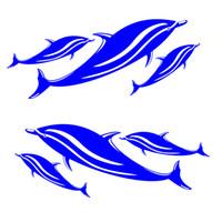 adesivos de carro de surf venda por atacado-Surf Adesivos de Esqui 2 Peças Golfinho Decalques de Vinil Adesivos para Caiaque Canoa Barco De Pesca Parede Do Carro Esportes Aquáticos Janela Decoração acesso