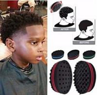 torção mágica do cabelo venda por atacado-Barbeiro Onda Do Cabelo cabeleireiro Escova Esponja para Dreads Afro Locs Torção Curl Coil Magic Hair Styling Ferramentas