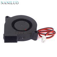 üfleme parçaları toptan satış-NANILUO 3 ADET 3D Yazıcı parçaları 50mm x 50mm x 15mm 5 cm 5015 50mm Radyal Turbo Fan Fan DC 12 V 30 cm ile soğutma fanı