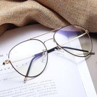 116f50c563e High Quality 1 Pc Unisex Men Women Optical Glasses Fashion Retro Large  Metal Frame Brand Designer Goggles Spectacle New