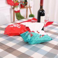 ingrosso molto auto-Decorazioni natalizie Tissue Box Cover molto fashion regalo natalizio può essere utilizzato in auto casa decorazioni ordinarie medie dimensioni FP11