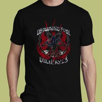 projetos de camisa de banda venda por atacado-Afogamento Piscina Azarado 13 Tee Rock Band S-3xl T-shirt Slipknot, Solo Tops T Camisa Homme Design de Moda Frete Grátis