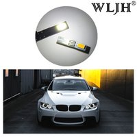 Wholesale gauge light bulbs - WLJH Canbus T5 LED 74 12V Car Styling Angle Eyes LED for Headlight Dashboard Gauge Instrument Door Wedge Gauge Lamp Bulb