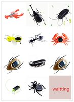 Wholesale insects robots resale online - 2022 new Garden simulation fake insect Solar Robot Insect Decorations for garden gift for kids in stock