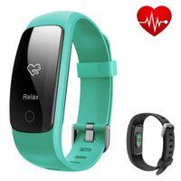 akıllı zil çağırıyor toptan satış-Akıllı Bilezik İK Etkinlik Tracker Pedometre izle Kalp Hızı GPS Akıllı Bant Çağrı Bluetooth Su Geçirmez Spor Spor Band hatırlatmak