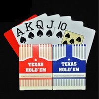Wholesale portable poker - Texas Hold'em Plastic Playing Cards Waterproof Frosting Poker Card Pokerstar Board Game Poker Cards Portable Games OOA4512
