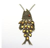collar colgante de peces de colores al por mayor-Collar colgante grande de Goldfish de la joyería caliente de la manera