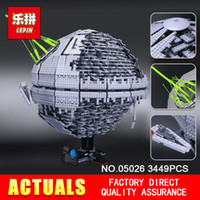 Wholesale stars wars toys - LEPIN 05026 Star Children Gifts Wars 3449Pcs Death The second generation Star Building Block Bricks Toys Compatible with 10143.