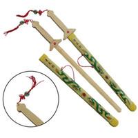 ingrosso decorazioni cinesi all'aria aperta-Nuova vendita calda cinese arti marziali kung fu tai chi bambù spada pratica formazione prestazioni decorazione sport all'aria aperta per bambini giocattolo migliore regalo