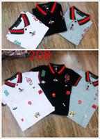 Wholesale boy high neck shirts - 2018jjia Summer Printed Children's T-Shirts Round Neck Short-Sleeved Printed High-End Boys' T-Shirts0223