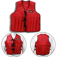 Wholesale gore tex xcr jacket for sale - Men Adjustable Multi Pockets Weighted Vest Jacket Fishing Jacket Outdoor Fly Fishing Vest Multi pockets Mesh Vest Breathable Fishing Hunting