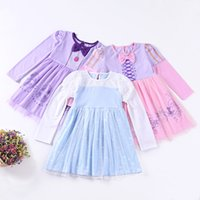 Wholesale Kids Western Dresses - Everweekend Lovely Kids Bow Lace Floral Tulle Ruffles Dress Princess Candy Color Cotton Western Fashion Summer Party Clothing