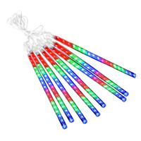 Wholesale Wedding Showers - 2018 Hotselling 20CM 30CM 50CM 8PCS Set Meteor Shower Rain Tubes AC100-240V LED Christmas Lights Wedding Party Garden Xmas String Light Outd