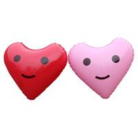 globos de papel en forma de corazón al por mayor-Inflado de la manera En Forma de Corazón Globos de la Hoja Amor Fiesta de Cumpleaños Decoraciones Acuático Beach Photo Props Novela Estilo 3 8xr X