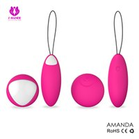 Wholesale Dual Bullets Vibrating - USB Rechargeable 10m Wireless Remote Control 7-Speeds Silicone Dual Vibrating Sex Eggs Love Eggs Massager Vibrators For Women