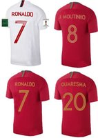 Wholesale Sports Jersey Patches - Green World cup Patch Maillot de Foot 2018 Cristiano Ronaldo Camiseta voetbal tenues Thai quality PORTUGAL sporting jerseys Maglie calcio