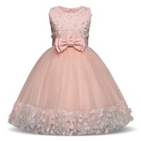 Clover Girl Floral Princess Party Dress Girls Summer Children Clothing  Wedding Birthday Party tutu 4-10 Y Baby Children Clothes 7d639382f958