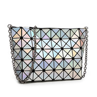 Wholesale-BaoBao issey women Matt Surface Retro Tote Shoulder Bags Miyake  Famous brand Sequins Folding Party satchel casual Shopping outbags 8c3a374bd6568