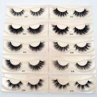 natural false eyelashes toptan satış-Vizon Kirpiklere 3D Vizon Kirpikler 100% Zulüm ücretsiz Kirpikler El Yapımı Kullanımlık Doğal Kirpikler Wispies Yanlış Kirpikler Makyaj E serisi vizon kirpik