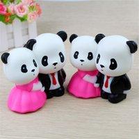 novidades para brinquedos panda venda por atacado-Amante Jumbo Panda Ascensão Lenta Squishy Novidade Mole Bonito Bolo Squishies Squishies Descompressão Pressão Divertido Brinquedos 12 5my Z