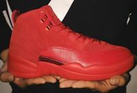 Wholesale Money Split - 2018 men 12 12s shoes men 12s shoes Pure Money Royalty White Cement Premium Black Bred Fire Red mens shoes Sneakers size 8-13