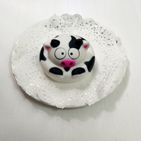 Wholesale milking cow toy resale online - PU slow rebound foaming decompression toy simulation animal milk cow cake