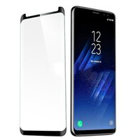 Wholesale Glass 3d - Case Friendly Tempered Glass 3D Curved For Galaxy S9 Note 8 S8 Plus S7 Edge IPhone X 8 7 6SPLus
