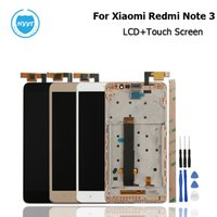ingrosso telaio centrale di digitalizzatore-per nota 3 Per XiaoMi Redmi Nota 3 Display LCD + Touch con cornice Screen Digitizer Assembly Replacement Frame di alta qualità e centrale