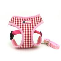 kemer kurşun toptan satış-Çok renkli Karides Küçük Köpek Harness ve Tasmalar Köpekler için Set Göğüs Askısı Kedi Yavrusu Pet Harnesses Teddy Teriyer için Kemer Halat
