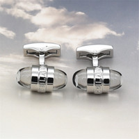 Wholesale most gifts resale online - European most cufflinks popular Hotsale High grade round crystal style MB cufflink for gentleman gifts with good quality Men Ornaments