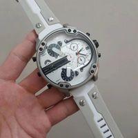 relojes de cara blanca para hombre. al por mayor-DZ Watch Relojes de lujo para hombres 57MM correa de acero para manchas grandes Dial DZ7401 Cara blanca 2018