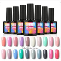 Wholesale nail design yellow resale online - 10ml UV LED Gel Nail Polish Long lasting Macaron Soak off Varnish Gel Lacquer Design Manicure Top Nail Art MA029