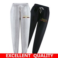 Wholesale Full Size Clothing - New Fashion Tracksuit Bottoms Mens Pants 100% Cotton Sweatpants Mens Joggers Brand letter Print Pants Gyms Clothing Plus Size S-3XL