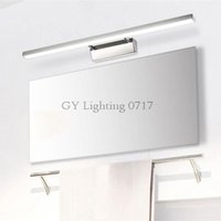 Wholesale led lights for bathroom mirror - L40 50 60 70cm Modern stainless steel finished led mirror light 7 8 10 12W bathroom lamp wall lights for Dresser Hotel home