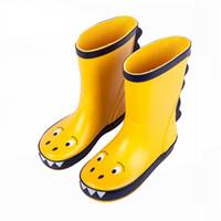 meninos botas verdes venda por atacado-Crianças Rain Boot Boy Menina Chuva Bota De Borracha Crianças sapatos à prova d 'água do bebê Tollder Crianças Chuva Dinossauro Sapatos tamanho Verde