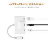 Wholesale rj45 usb female adapter for sale - iPhone iPad to RJ45 Adapter Lightning to RJ45 Ethernet LAN Wired Network Adapter Lightning to USB Camera Female OTG Convertor Light