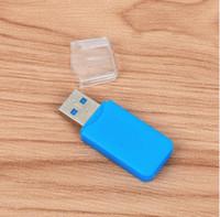 adaptador de unidad flash usb al por mayor-Mucho 100pcs portátil USB 2.0 Adaptador Micro SD SDHC lector de tarjetas de memoria Flash Drive escritor