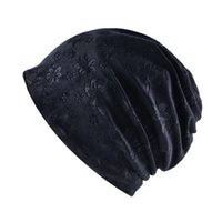 Wholesale Autumn Warm Winter Hat For Women Cat Ears Skullies Beanie Hats Ear Flaps Caps Ladies Flower Printing Beanies fh dd