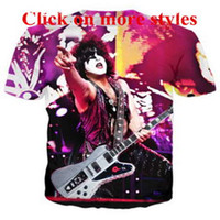 Wholesale kiss printed top for sale - Hip hop style t shirts Kiss  bandshirts New fashion f55d562ddec0