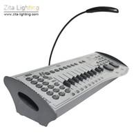 dmx 512 disco dj light al por mayor-Zita Lighting International Standard Controlador DMX 512 Consola de iluminación Iluminación de la etapa Equipo de control de operación DJ Disco Party Efecto