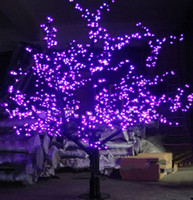 Wholesale cherry blossom christmas tree - 1.5M 1.8m 2m Shiny LED Cherry Blossom Christmas Tree Lighting Waterproof Garden Landscape Decoration Lamp For Wedding Party Christmas