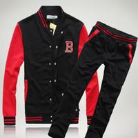 Wholesale cardigan mens korean - New Fashion Mens Luxury Sweat Suits Designer Tracksuit Mens Sport Sets Sweat Suits Korean Style Tracksuits Baseball Tracksuit