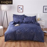 Wholesale boys full size bedding for sale - Bonenjoy Bed Sheet Set Full Size Cartoon Style Reactive printed Quilt Cover For Single Bed Blue Whale Bedding Sets For Kid Boy