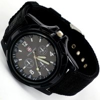 Wholesale swiss army watch men resale online - 2018 New Top Fashion Swiss Braided Watch sea land and air army Sports Quartz Watch Men Canvas Strap Casual Clock Men