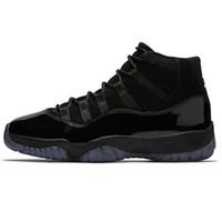 siyah rahat kıyafet toptan satış-11 OG Kap ve Kıyafeti Balo Gece Blackout Gamma Siyah Erkek Ayakkabı J11 XI 11 s Chicago Gym Kırmızı Midnight Donanma rahat ayakkabılar