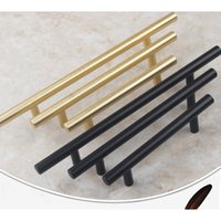 Wholesale home furniture wholesalers - Black Brushed Brass Cabinet Hardware 305 Series Euro Style Bar Pulls & Knobs Furniture Antique Shell Handles Tiradores De Cajón Home Decor