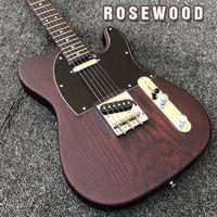 kit de guitarra elétrica sólido venda por atacado-FSR GEORGE HARRISON Jacarandá TL Wax Potted Captadores de Bronze Saddle Bridge Guitarra Elétrica Frete Grátis