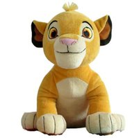 Wholesale lion plush online - New Good Quality Cute Sitting High cm Simba The Lion King Plush Toys Simba Soft Stuffed Animals doll For Children Gifts