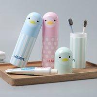 boîte à dentifrice achat en gros de-Brosse à dents de bande dessinée de voyage tasse boîtes à serviettes de bain